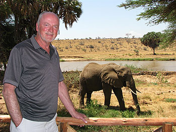 Elephants were frequent visitors to our tented camp in Samburu National Park